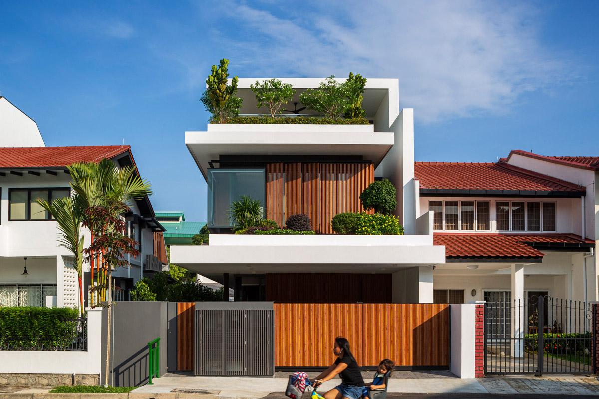 mau biet thu hien dai dep 3 tang co san vuon nho cay xanh dep nhat 67 Top 20 mẫu nhà biệt thự đẹp tìm kiếm nhiều nhất dành cho khách muốn xây nhà