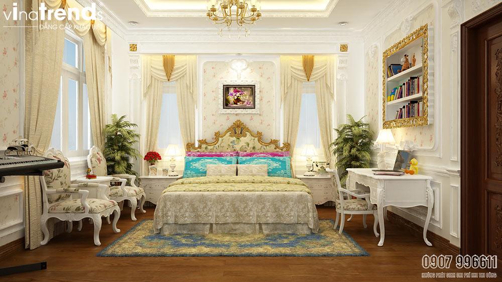 mau phong ngu master biet thu co dien dep 05 mẫu biệt thự kiểu Pháp 2 3 4 tầng khiến giới nhà giàu cả nể