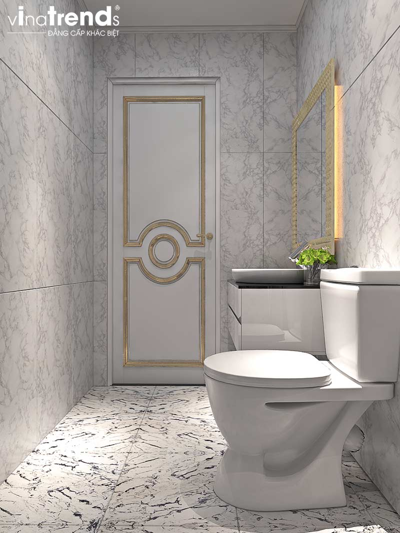 nha ve sinh chung cu tan co dien cao cap Đẳng cấp mẫu nội thất đẹp chung cư 2 tầng tân cổ điển ở Hồ Chí Minh