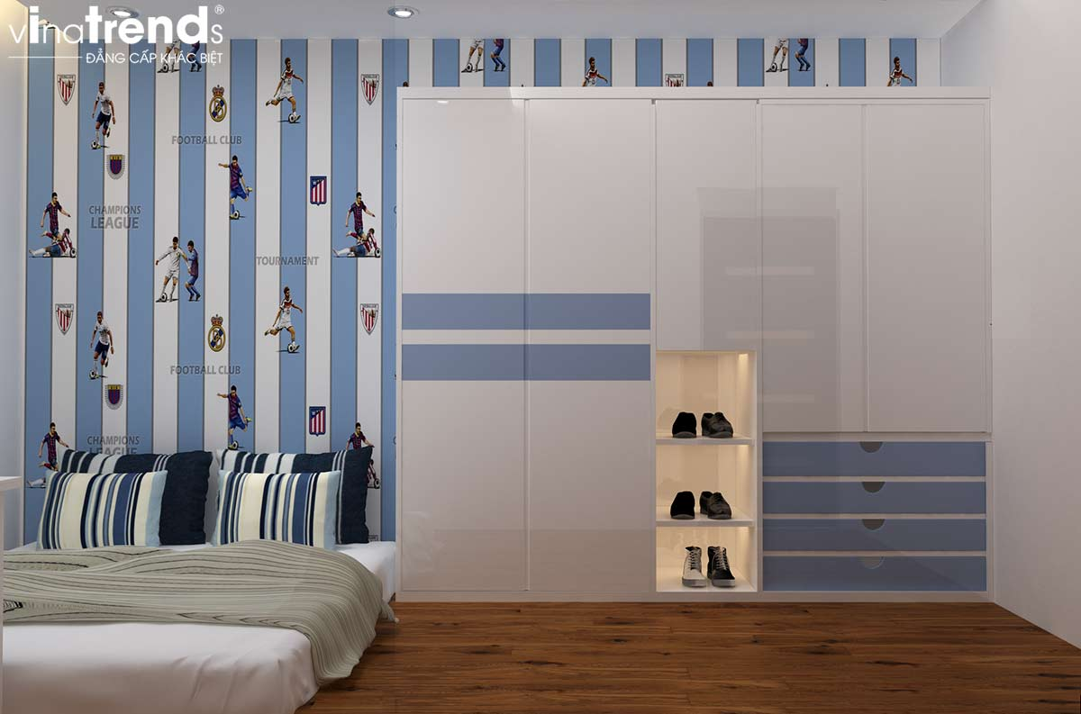 noi that chung cu hien dai don gian 2 Mẫu thiết kế nội thất chung cư căn hộ nhỏ sắc xanh thoáng đẹp