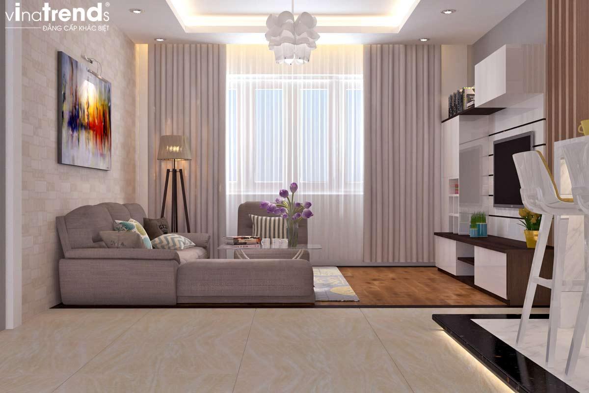 noi that chung cu hien dai don gian 4 Mẫu thiết kế nội thất chung cư căn hộ nhỏ sắc xanh thoáng đẹp