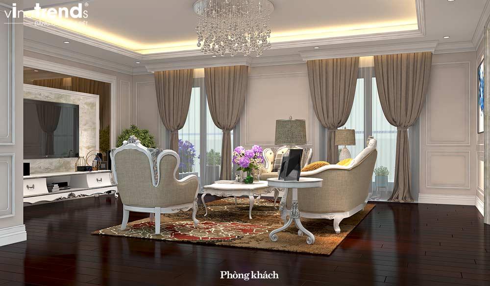 noi that phong khach chung cu tan co dien dep Đẳng cấp mẫu nội thất đẹp chung cư 2 tầng tân cổ điển ở Hồ Chí Minh