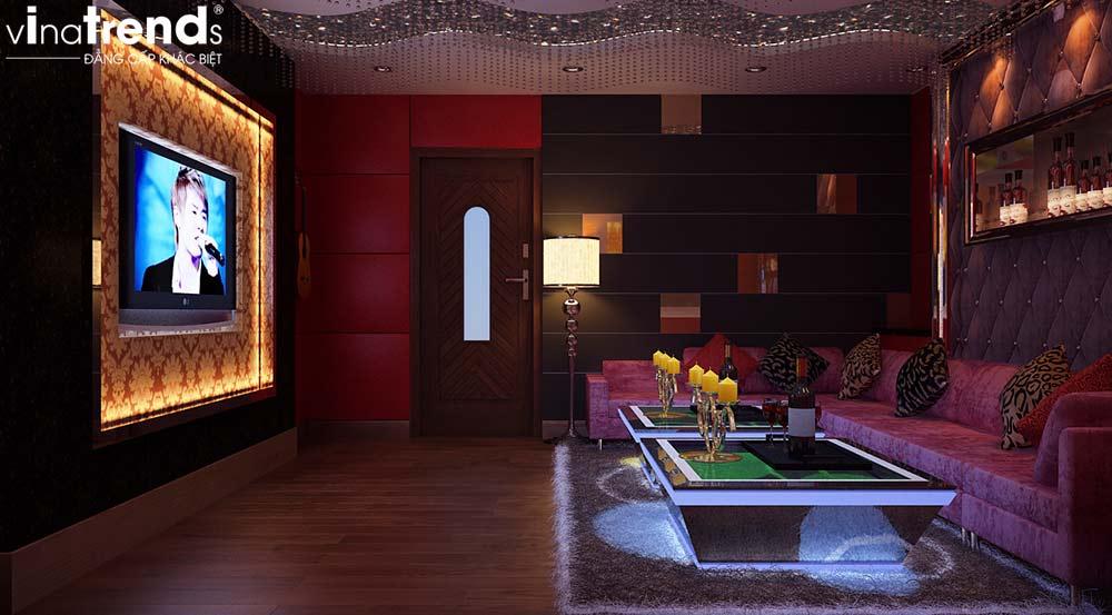phong karaoke mini gia dinh Mẫu nhà vườn 2 tầng đơn giản không chỗ chê 8,5x15m trên mảnh đất rộng hơn 500m2 ở Phú Quốc