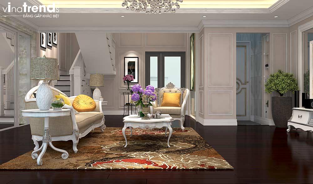 phong khach dep chung cu tan co dien cao cap Đẳng cấp mẫu nội thất đẹp chung cư 2 tầng tân cổ điển ở Hồ Chí Minh