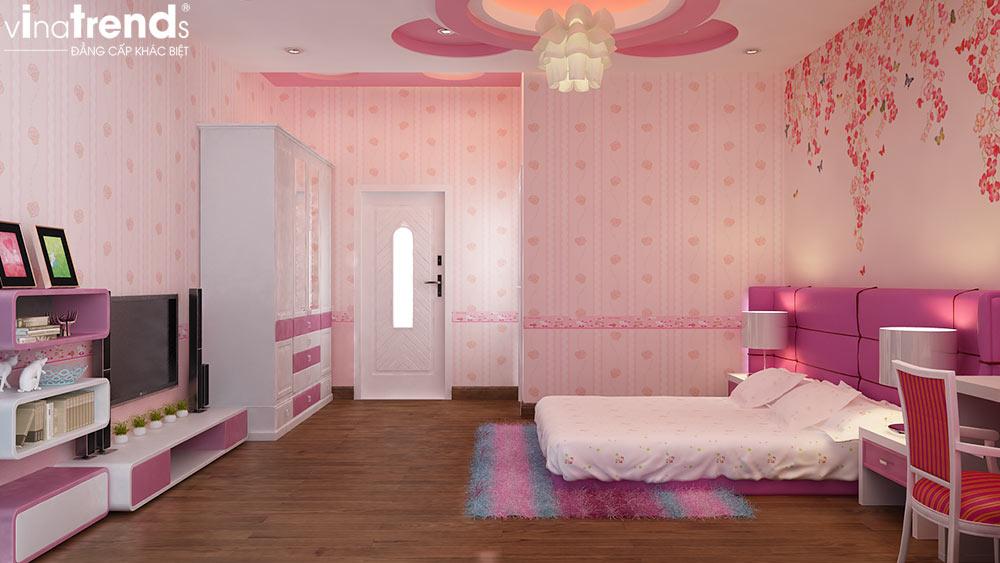 phong ngu cho be gai mau hong dep 7 hướng thiết kế phòng ngủ đẹp hợp phong thủy tuổi