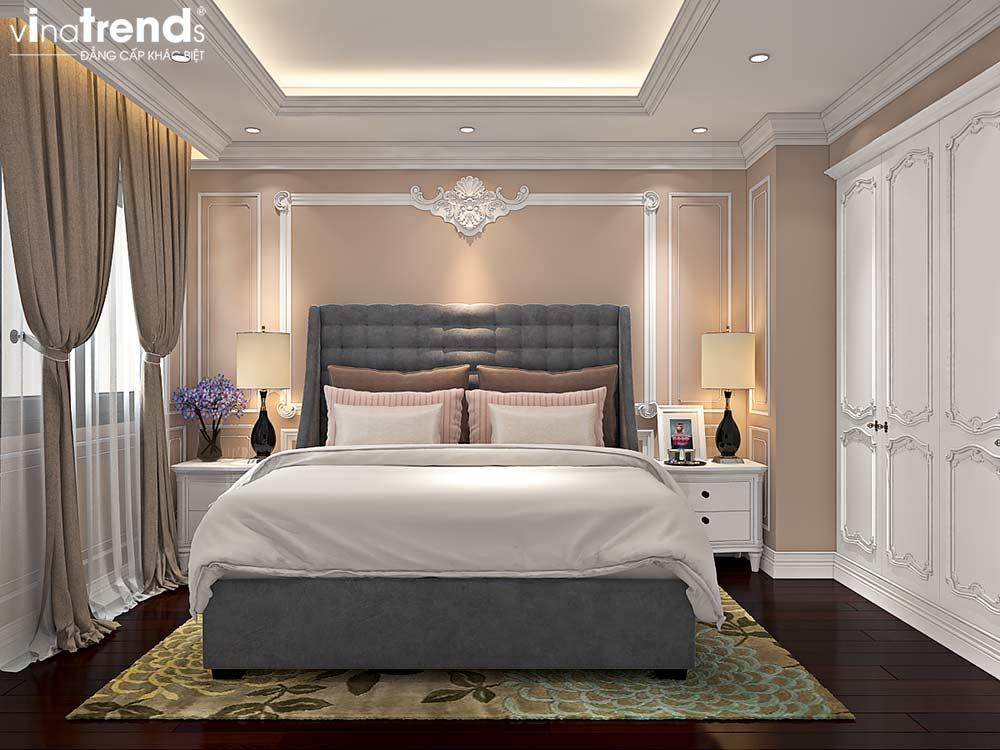 phong ngu chung cu tan co dien cao cap Đẳng cấp mẫu nội thất đẹp chung cư 2 tầng tân cổ điển ở Hồ Chí Minh