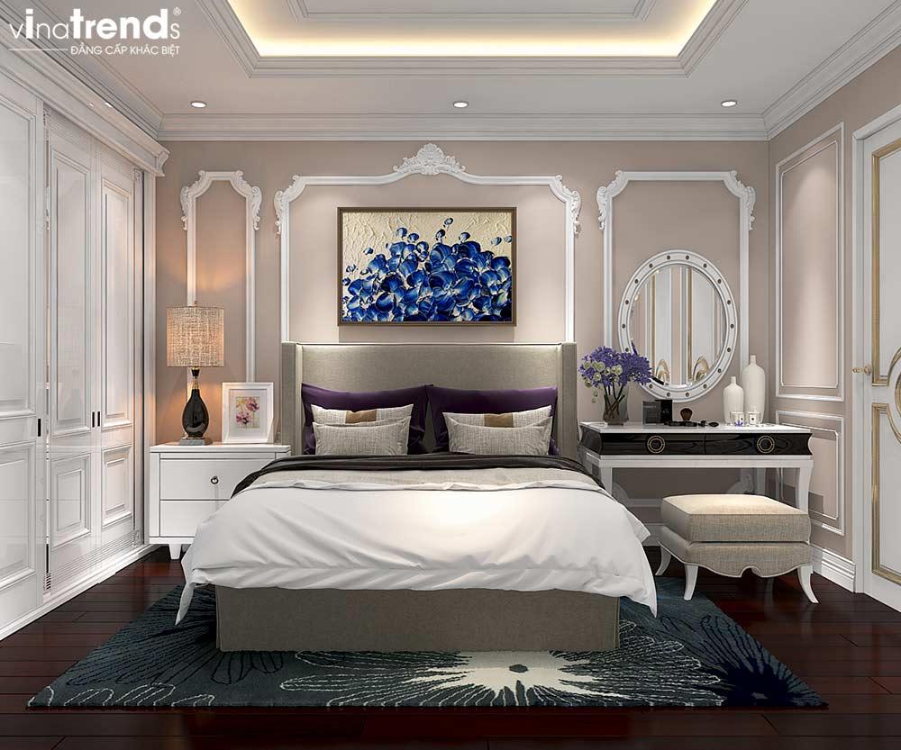phong ngu dep chung cu tan co dien cao cap Đẳng cấp mẫu nội thất đẹp chung cư 2 tầng tân cổ điển ở Hồ Chí Minh