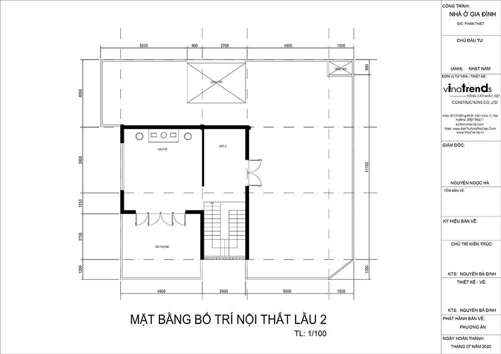 mat bang tang 2 biet thu hien dai Mẫu biệt thự vuông nhà vườn 3 tầng hiện đại 12x12m phải ngưỡng mộ của đại gia ngành xây dựng Phan Thiết