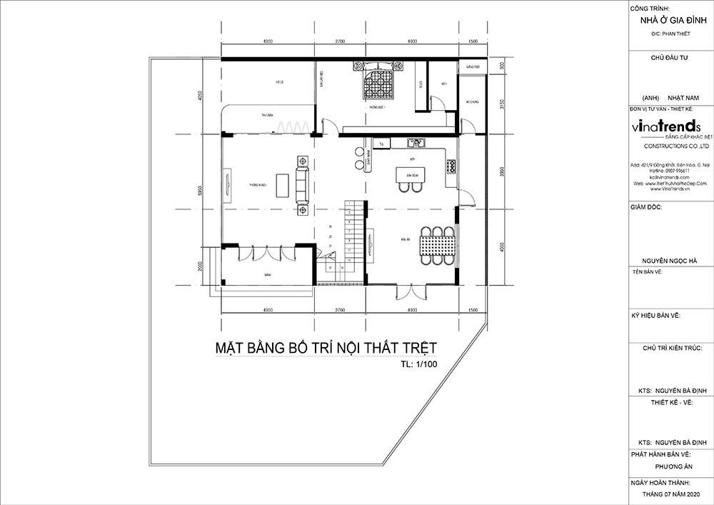 mat bang tang tret biet thu hien dai Mẫu biệt thự vuông nhà vườn 3 tầng hiện đại 12x12m phải ngưỡng mộ của đại gia ngành xây dựng Phan Thiết