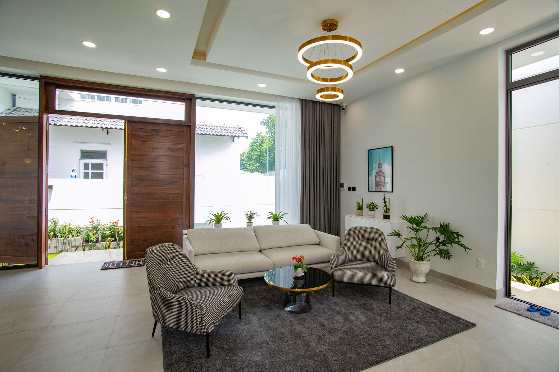 mau nha noi that nha hien dai 1 tang dep Biệt thự vườn nhà 1 tầng hiện đại 8x19m kiểu phương Tây không gian mở ở Biên Hòa