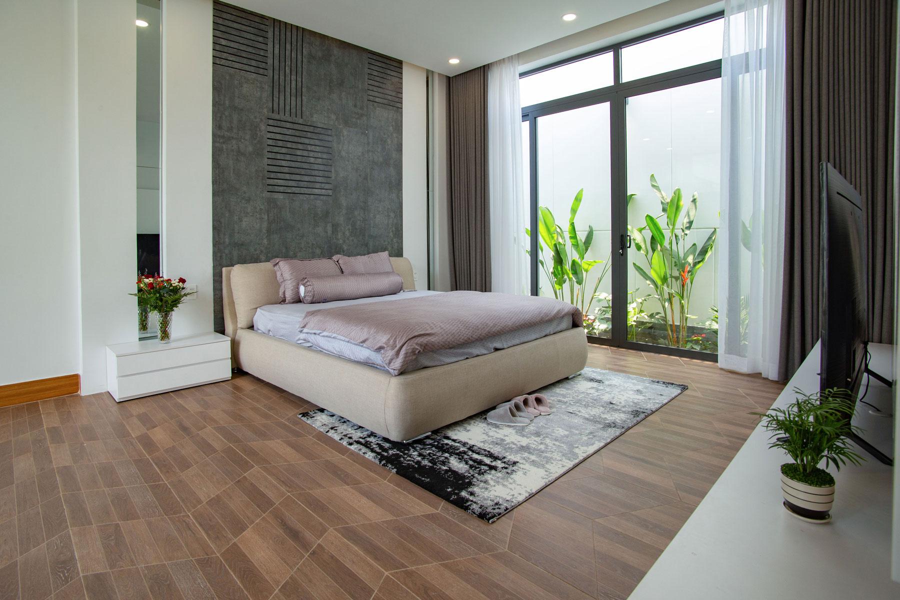 phong ngu Biệt thự vườn nhà 1 tầng hiện đại 8x19m kiểu phương Tây không gian mở ở Biên Hòa