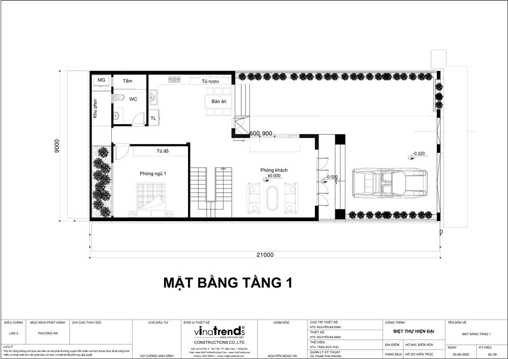 tang tret mau nha 2 tang mai thai hien dai chu l 9m dai 15m Mẫu nhà 2 tầng mái thái hiện đại 9x15m có sân vườn tổ ấm cho 3 người nên khá rộng rãi