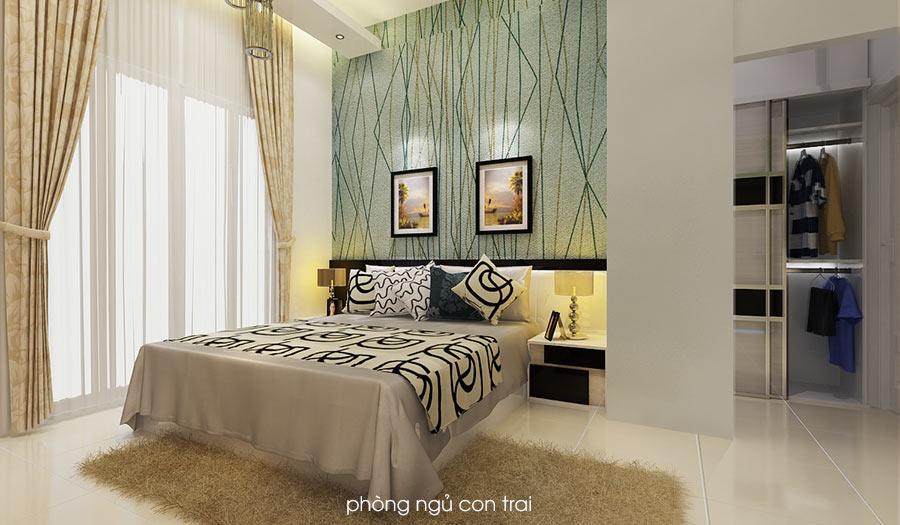 con trai Bản vẽ biệt thự 3 tầng kiểu Pháp 7x17m có sân vườn hồ bơi tiện nghi ở Tiền Giang