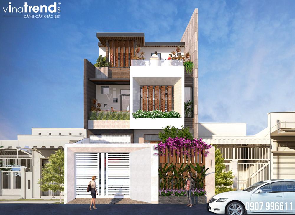 mau nha 3 tang hien dai dep nhat Mẫu nhà biệt thự 3 tầng mái thái tân cổ điển mặt tiền đẹp 7mx17m cho nhà thầu xây dựng ở Bình Dương