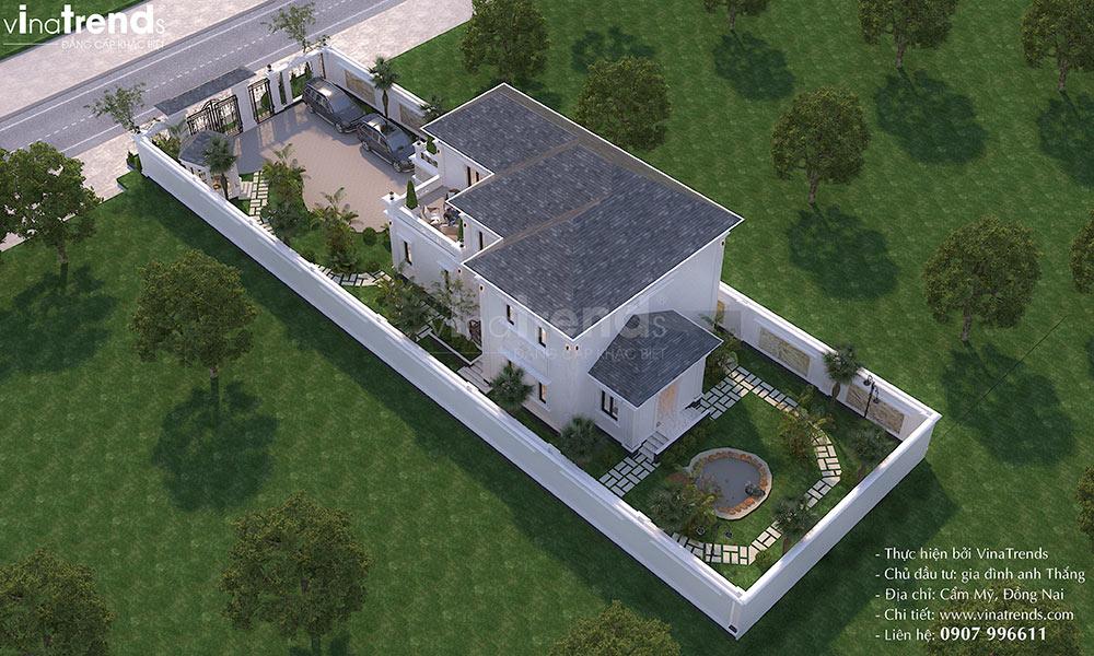 mau nha biet thu vuon 2 tang o que dep nhat Mẫu biệt thự 2 tầng nhà vườn rộng 750m2 kiểu nông thôn Pháp đẹp từ cổng đến sau nhà ở Đồng Nai