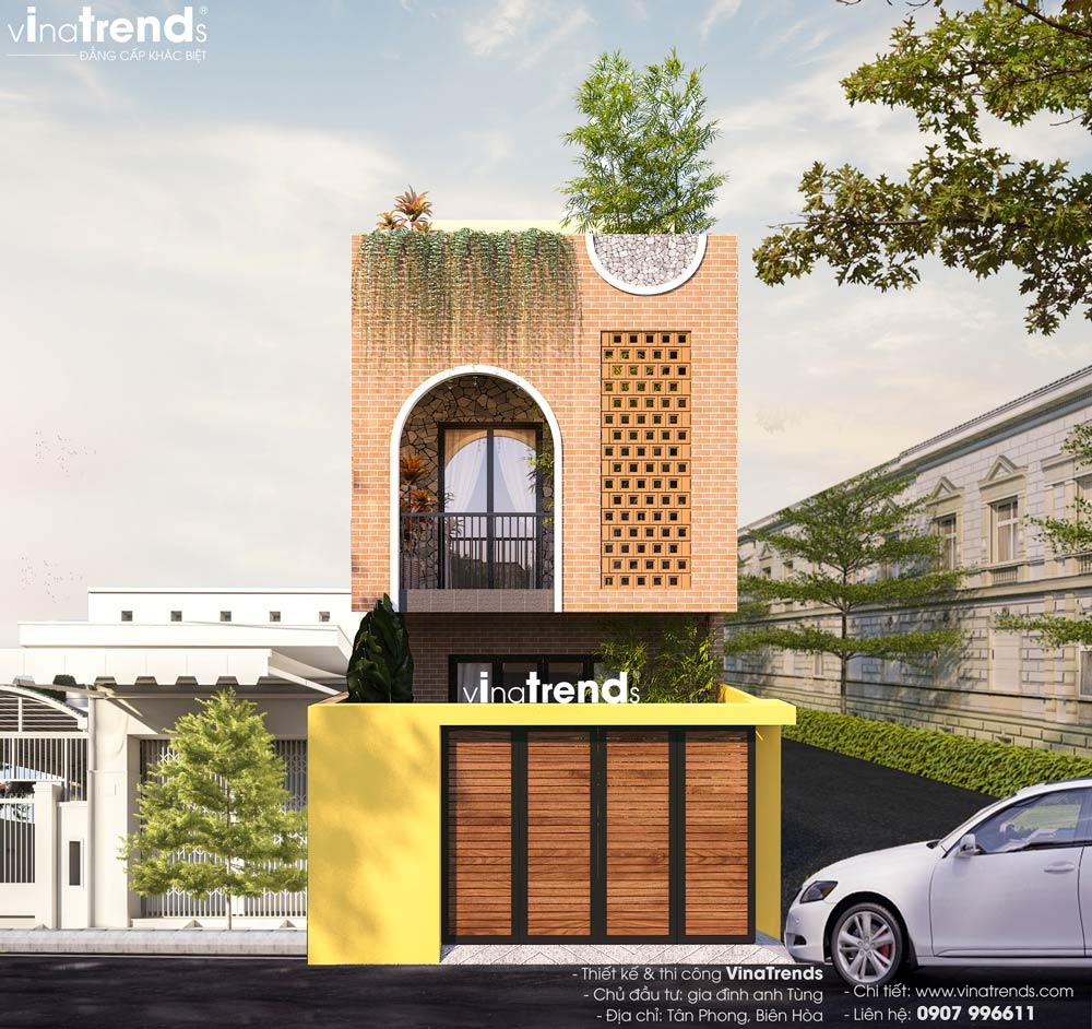 mau nha dep 2 tang 1 san thuong dep Mẫu nhà 2 tầng đẹp mặt tiền 6x12m có sân trước  sân thượng cho cô vợ yêu thiên nhiên