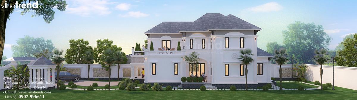 mau nha vuon 2 tang dep nhat Mẫu biệt thự 2 tầng nhà vườn rộng 750m2 kiểu nông thôn Pháp đẹp từ cổng đến sau nhà ở Đồng Nai