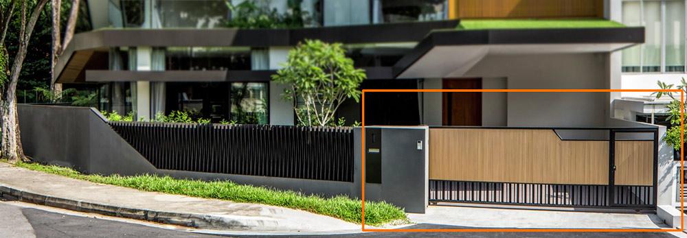 mau cong biet thu hien dai dep moi nhat [Hình thực tế] mẫu cổng nhà biệt thự hiện đại đẹp đứng sau thành công các biệt thự triệu đô