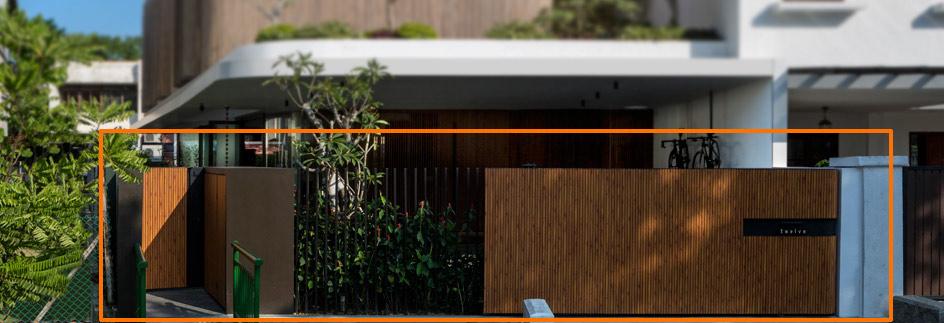 mau cong biet thu hien dai dep [Hình thực tế] mẫu cổng nhà biệt thự hiện đại đẹp đứng sau thành công các biệt thự triệu đô