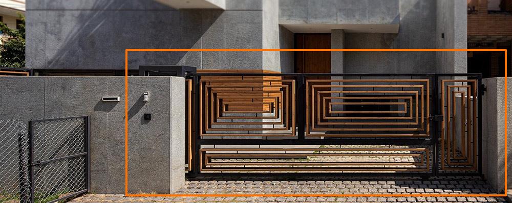 mau cong biet thu hien dai kieu truot dep [Hình thực tế] mẫu cổng nhà biệt thự hiện đại đẹp đứng sau thành công các biệt thự triệu đô