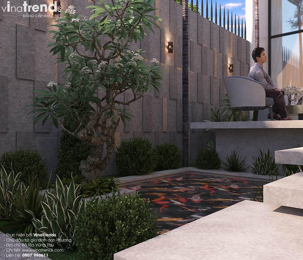 mau nha biet thu 1 tang co san vuon nho dep Biệt thự nhà vườn 1 tầng hiện đại 10x18m đẹp như ở Hàn Quốc giữ lòng Biên Hòa