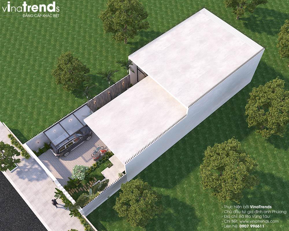 mau nha biet thu dep 1 tang Mẫu biệt thự nhà vườn 1 tầng 3 phòng ngủ hiện đại 10x19m gọn 1 câu thôi: Mê lắm!