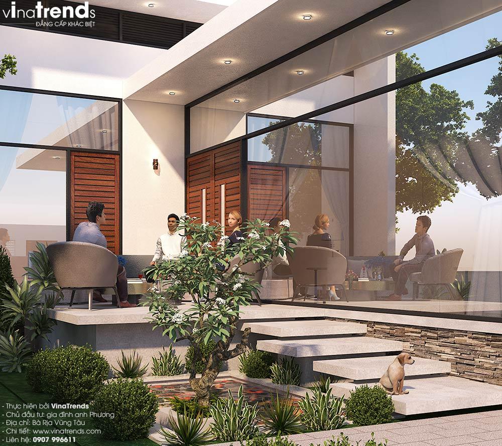 tieu canh nha biet thu san vuon dep Biệt thự nhà vườn 1 tầng hiện đại 10x18m đẹp như ở Hàn Quốc giữ lòng Biên Hòa