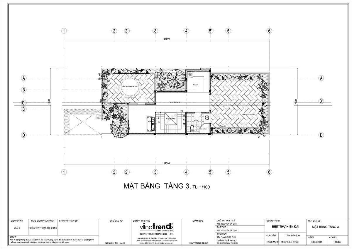 ban ve biet thu hien dai tang 2 Làm sao mẫu biệt thự hiện đại 3 tầng đẹp nhất KDC này nha em | 126m2, Nghệ An