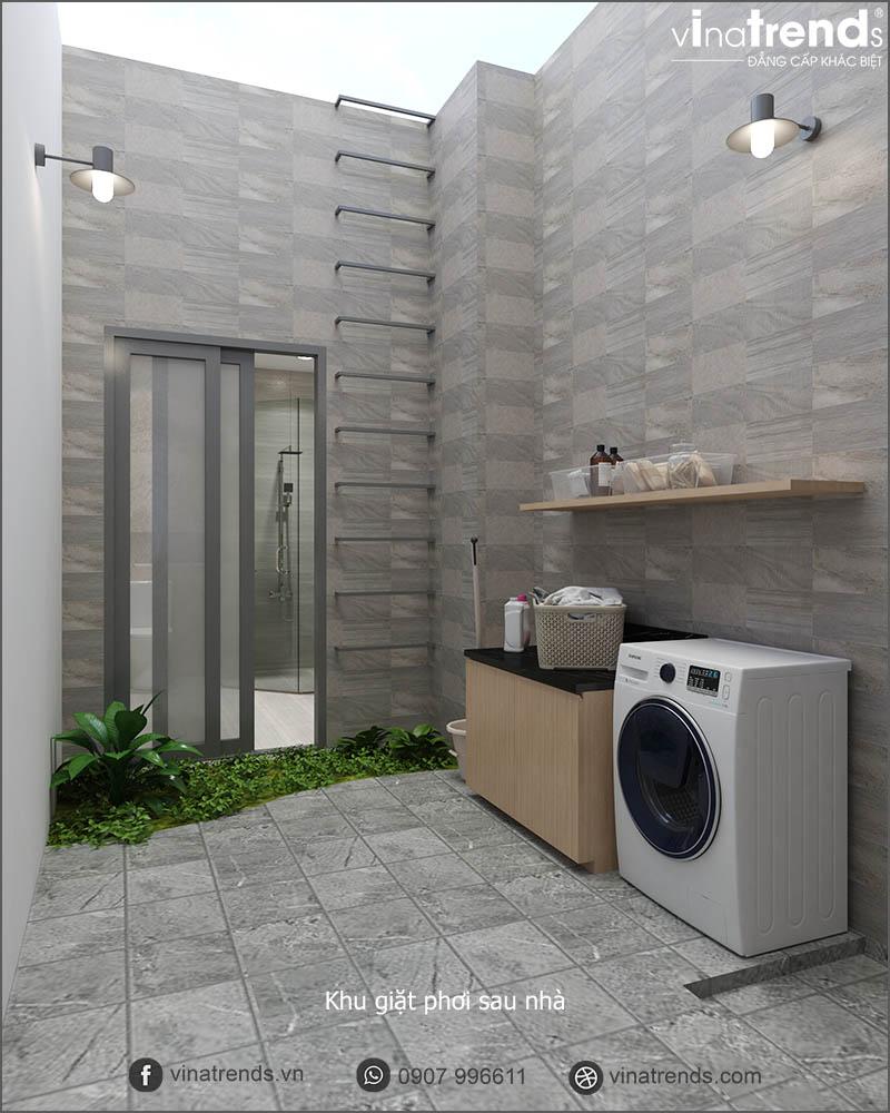 khu giat phoi Mẫu biệt thự nhà vườn 1 tầng 3 phòng ngủ hiện đại 10x19m gọn 1 câu thôi: Mê lắm!