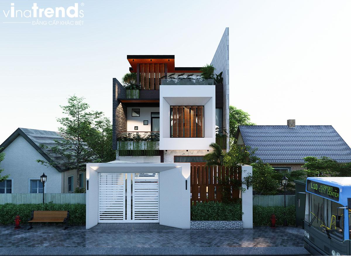 mau biet thu 2 tang co san thuong dep Làm sao mẫu biệt thự hiện đại 3 tầng đẹp nhất KDC này nha em | 126m2, Nghệ An