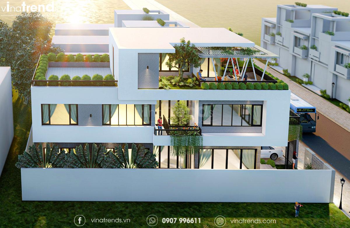 mau biet thu 3 tang dep nhat nghe an Làm sao mẫu biệt thự hiện đại 3 tầng đẹp nhất KDC này nha em | 126m2, Nghệ An