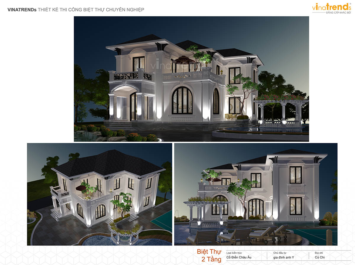 mau biet thu co dien 2 tang dep co ho boi profile vinatrends Những mẫu biệt thự kiểu Pháp đẹp mới lạ nhất Việt Nam   BTP191114A