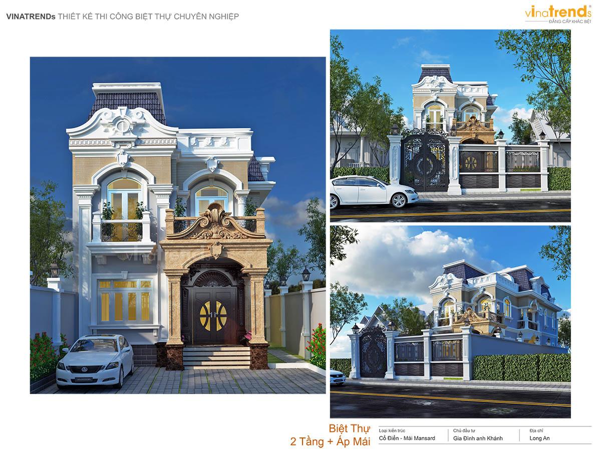 mau biet thu tan co dien 2 tang dep nhat profile vinatrends 15 mẫu biệt thự mini đẹp đánh bật mọi sự khó tính nhất của khách hàng