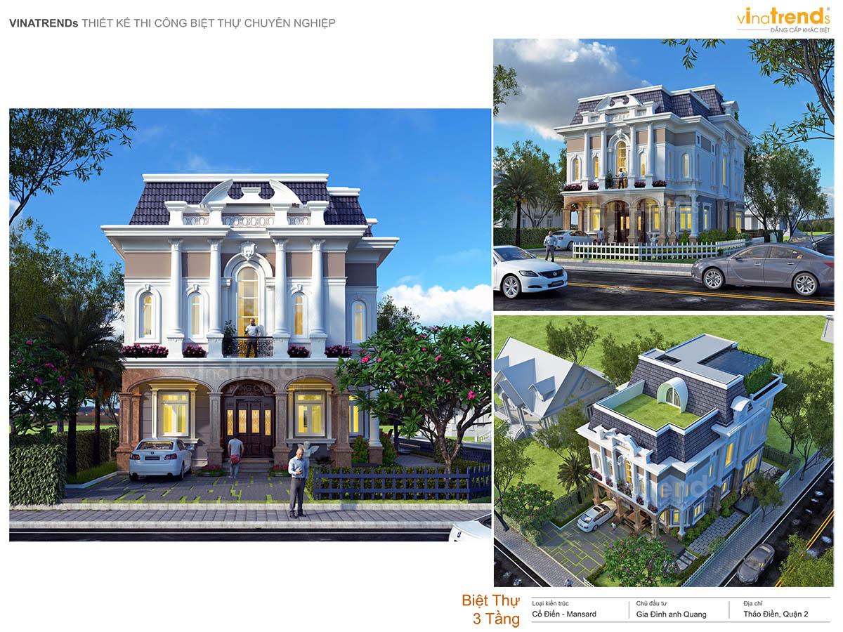mau biet thu tan co dien co san vuon dep nhat profile vinatrends Những mẫu biệt thự kiểu Pháp đẹp mới lạ nhất Việt Nam   BTP191114A