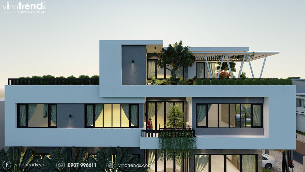 mau nha biet thu 3 tang co san vuon dep Làm sao mẫu biệt thự hiện đại 3 tầng đẹp nhất KDC này nha em | 126m2, Nghệ An
