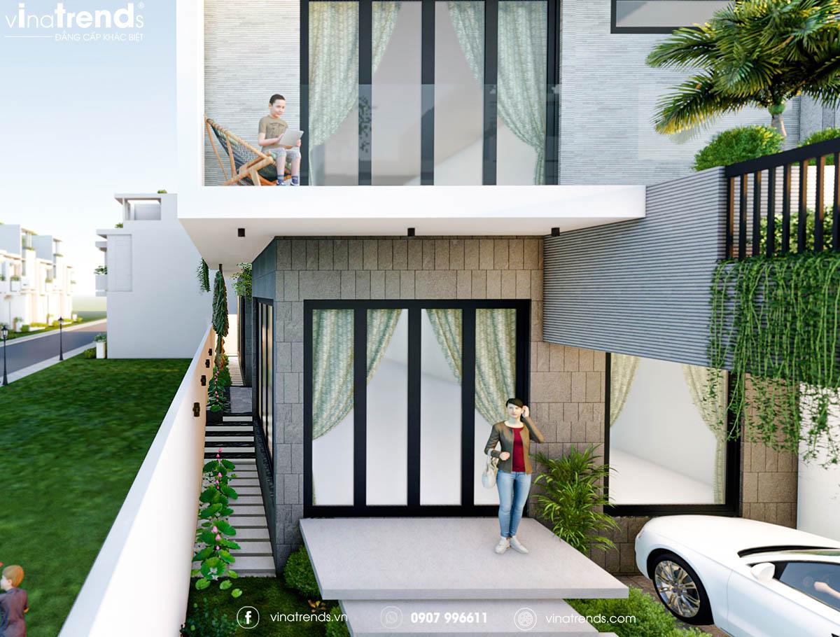 mau nha biet thu 3 tang hien dai co mat tien dep Làm sao mẫu biệt thự hiện đại 3 tầng đẹp nhất KDC này nha em | 126m2, Nghệ An
