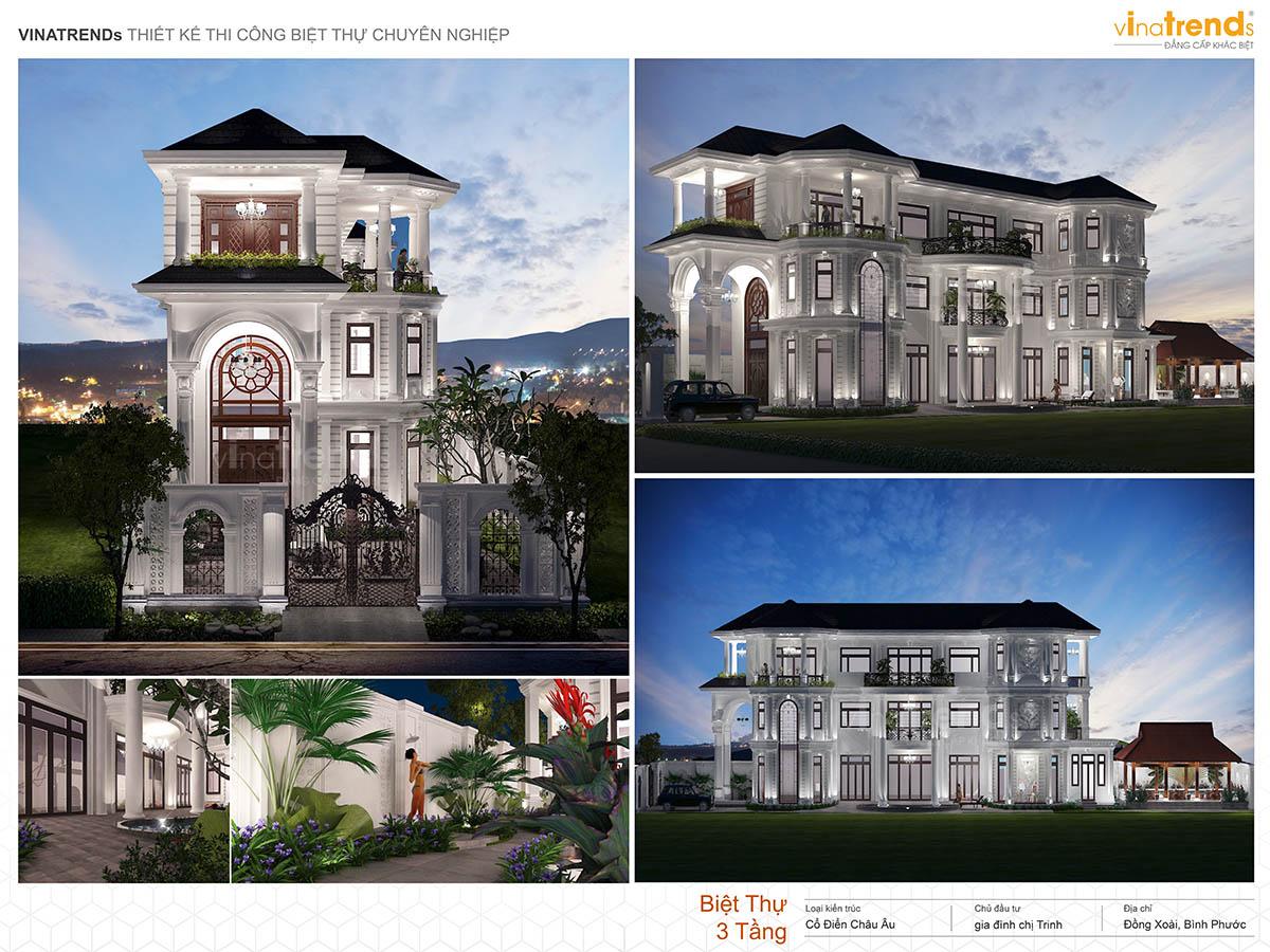 mau nha biet thu 3 tang tan co dien dep profile vinatrends 030521 Những mẫu biệt thự kiểu Pháp đẹp mới lạ nhất Việt Nam   BTP191114A