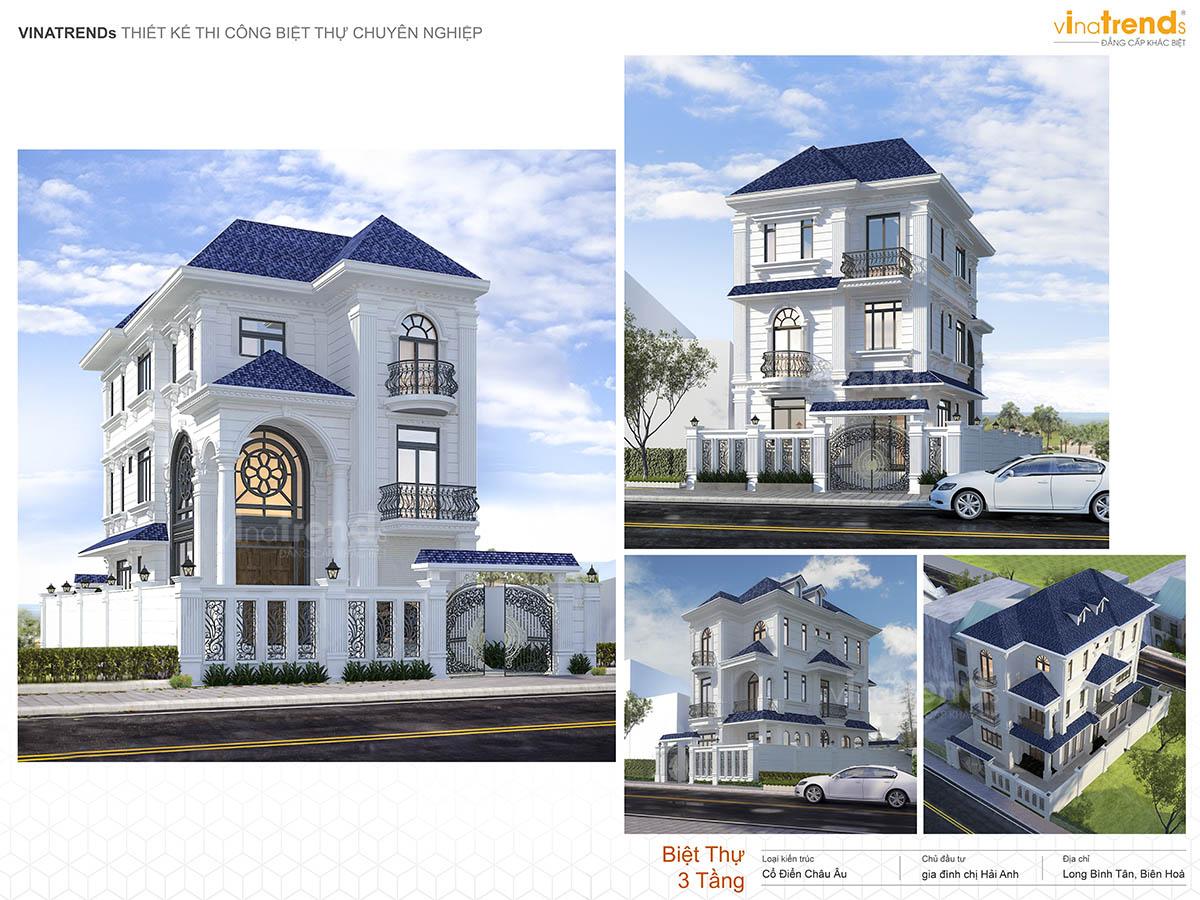 mau nha biet thu tan co dien dep 3 tang profile vinatrends Những mẫu biệt thự kiểu Pháp đẹp mới lạ nhất Việt Nam   BTP191114A