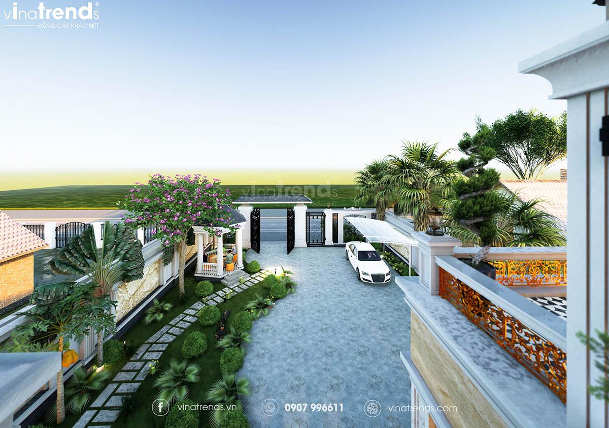 nha co san vuon mini dep Mẫu biệt thự sân vườn 2 tầng 11x19m ở nông thôn mà thành thị mê mẫn