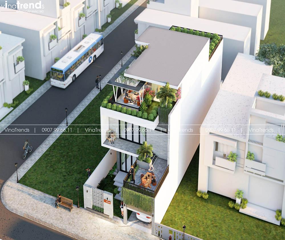 biet thu 3 tang hien dai co cay xanh dep nhat Làm sao mẫu biệt thự hiện đại 3 tầng đẹp nhất KDC này nha em | 126m2, Nghệ An