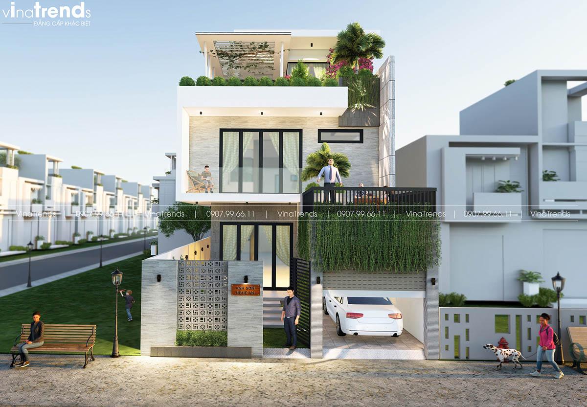 biet thu 3 tang hien dai dep nhat Làm sao mẫu biệt thự hiện đại 3 tầng đẹp nhất KDC này nha em | 126m2, Nghệ An