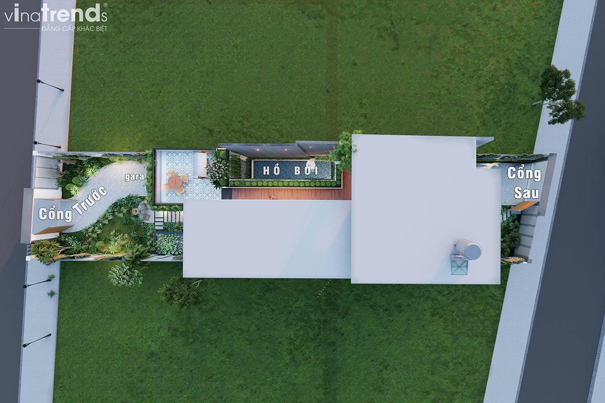 mat bang biet thu 2 tang 2 mat tien hien dai dep Khát Khao Mẫu Biệt Thự Đẹp 2 Tầng 2 Mặt Tiền Rộng 500m2 phủ cây Xanh tuyệt đối ở Biên Hoà