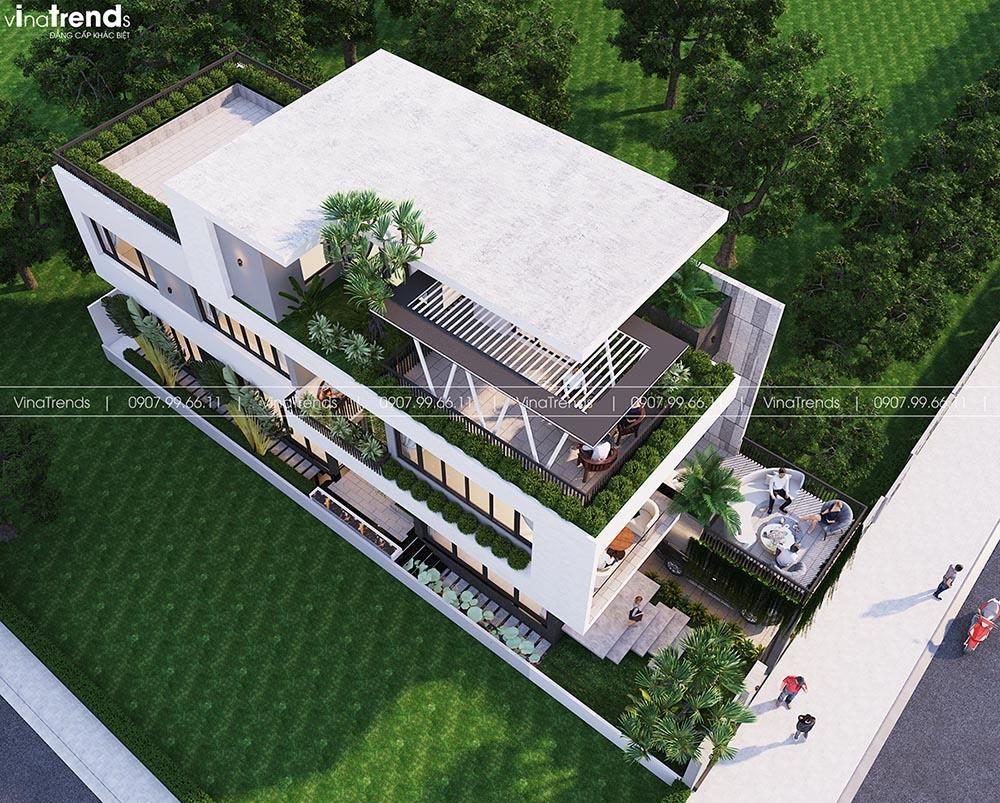 mau biet thu 3 tang mai bang hien dai dep Làm sao mẫu biệt thự hiện đại 3 tầng đẹp nhất KDC này nha em | 126m2, Nghệ An