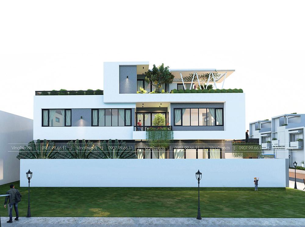 mau biet thu pho 3 tang dep nhat Làm sao mẫu biệt thự hiện đại 3 tầng đẹp nhất KDC này nha em | 126m2, Nghệ An
