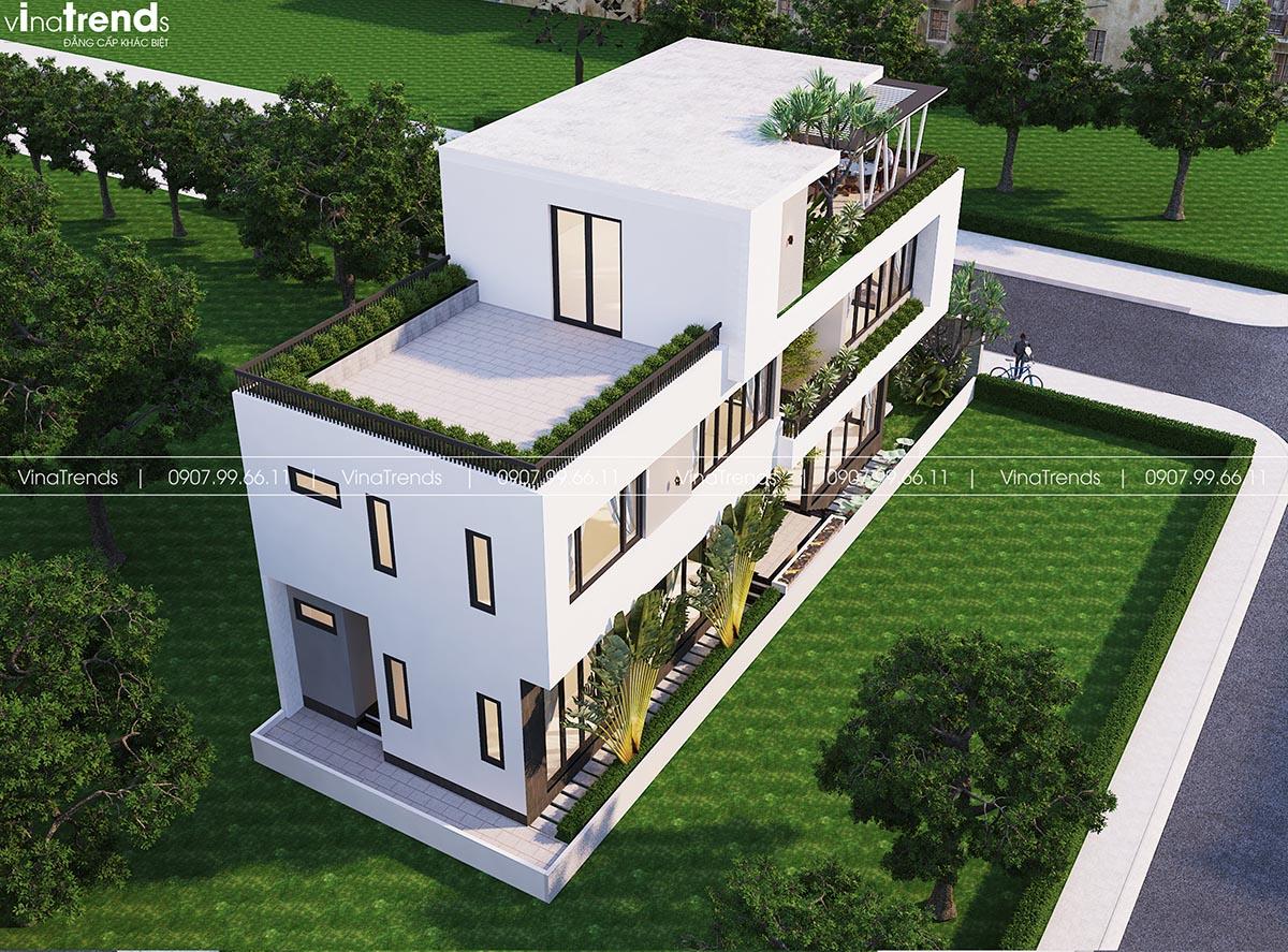 mau nha biet thu pho hien dai 3 tang co san vuon ban cong dep Làm sao mẫu biệt thự hiện đại 3 tầng đẹp nhất KDC này nha em | 126m2, Nghệ An