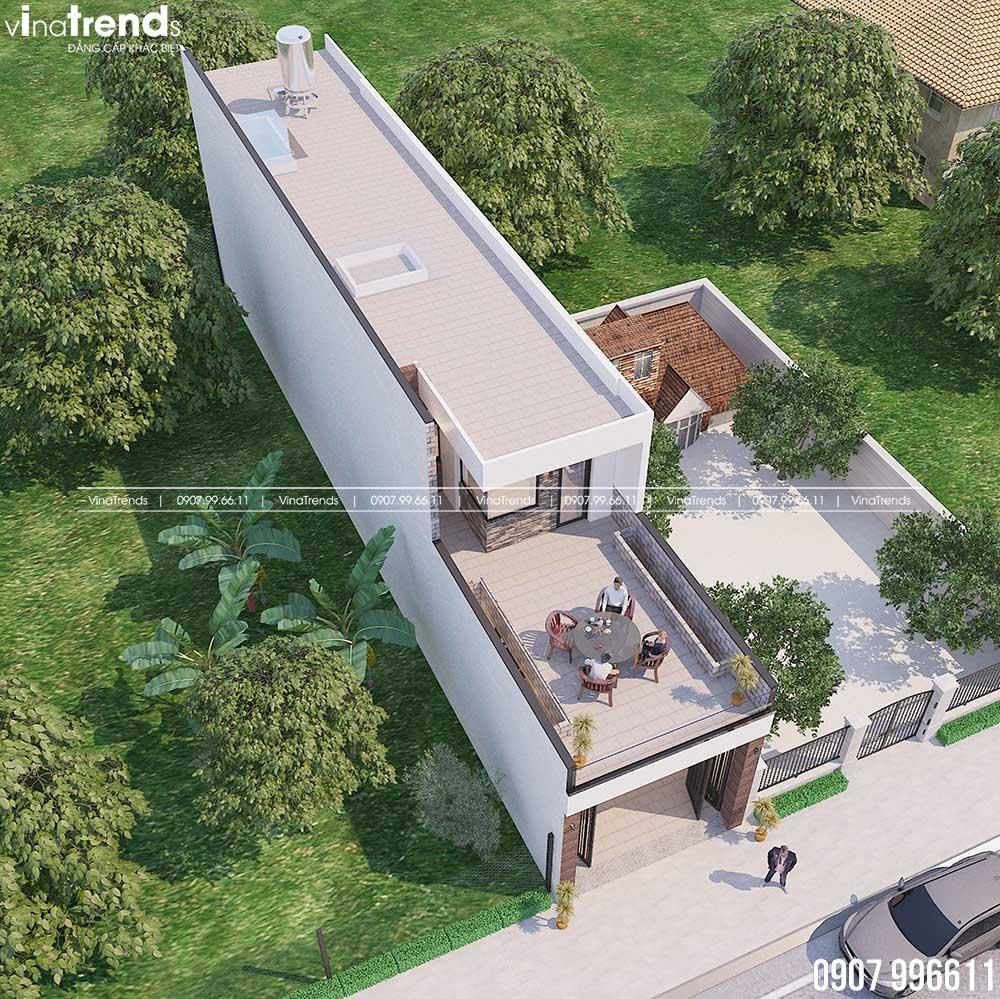 mau nha ong 2 tang dep co san thuong lon 05 Mẫu Nhà Cấp 4 2 Tầng đẹp Tối Ưu Xây Chỉ 590 triệu đến 1,2 tỷ