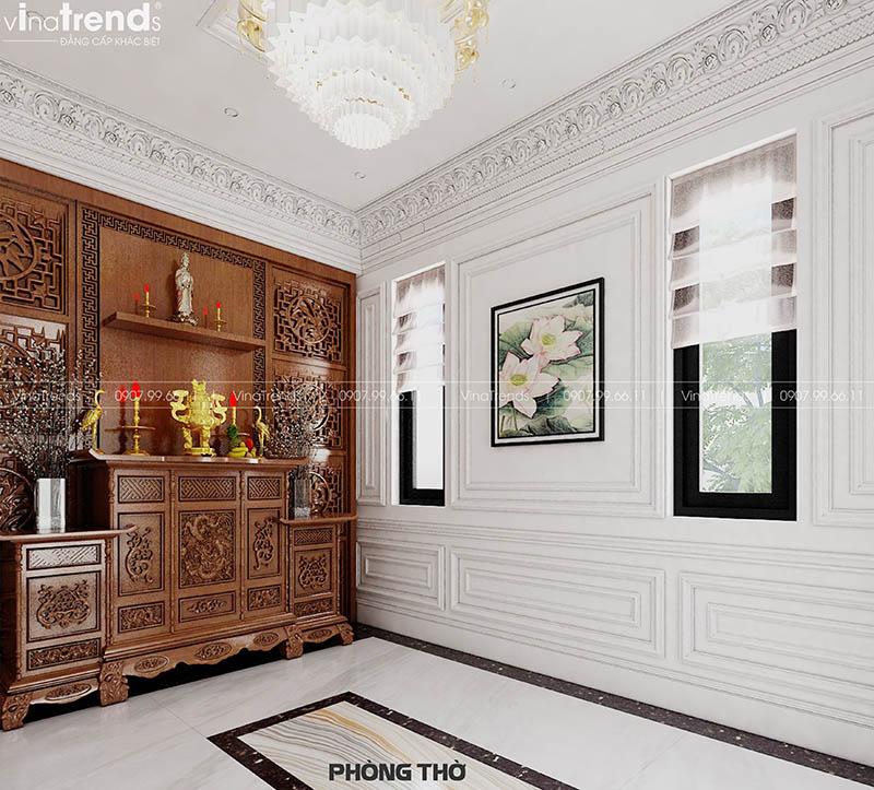 mau phong tho dep tan co dien Mẫu biệt thự 2 tầng nhà vườn rộng 750m2 kiểu nông thôn Pháp đẹp từ cổng đến sau nhà ở Đồng Nai
