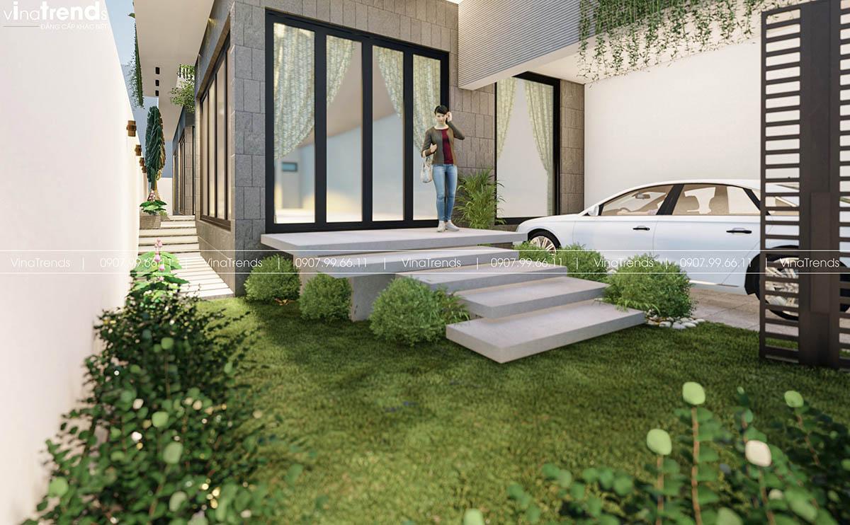 san vuon nha hien dai dep Làm sao mẫu biệt thự hiện đại 3 tầng đẹp nhất KDC này nha em | 126m2, Nghệ An