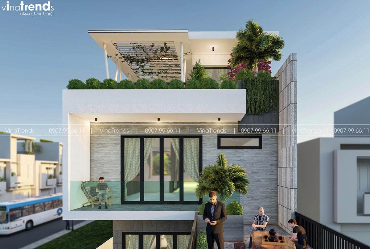 trang tri mat tien nha pho 3 tang dep Làm sao mẫu biệt thự hiện đại 3 tầng đẹp nhất KDC này nha em | 126m2, Nghệ An
