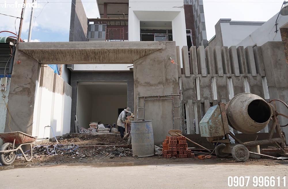 mat tien mau nha hien dai dep Bản vẽ biệt thự 3 tầng hiện đại 8x16,6m chinh phục mỹ mãn cặp vợ chồng đời đầu 8X ở Biên Hòa